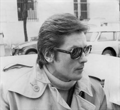 Alain Delon arriving at the Palais de Justice, Versailles, France, late 1960s. Artist: Unknown