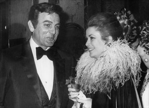 American actor Mike Connors and Princess Grace of Monaco, Monte Carlo, Monaco, 1971. Artist: Unknown