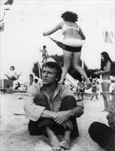 French actor and film star Jean-Pierre Cassel at the beach, Arcachon, France, c1970s(?). Artist: Unknown
