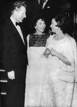 Princess Margaret chats with conductor Danny Kaye, Royal Albert Hall, London, 1966. Artist: Unknown