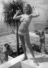 American actress and film star Cheri Caffaro, Cannes film festival, France, c1973. Artist: Unknown