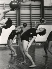 Princess Birgitta of Sweden in a show at the National Gymnastic Institute, 1958. Artist: Unknown