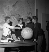 The SAS stewardess school, Bromma, Stockholm, Sweden, 1960. Artist: Torkel Lindeberg