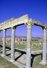 Portico of the Petronii, Thuburbo Majus, Tunisia.