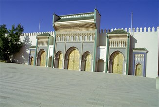 Gates of the Royal Palace, Fez, Morocco.