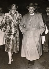 Hermann Göring, Nazi politician and military leader, with his wife Emmy, c1935-c1945. Artist: Unknown