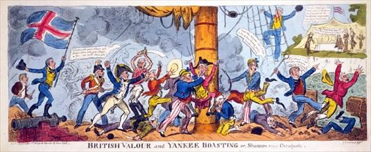 British Valour and Yankee Boasting or, Shannon versus Chesapeake, 1813.