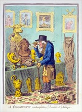 A Cognocenti contemplating ye Beauties of Ye Antique, 1801.