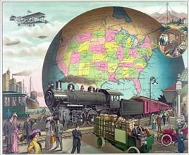 Twentieth Century Transportation, c.1910.
