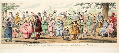 The Bloomers in Hyde Park or An Extraordinary Exhibition for 1852, 1852.