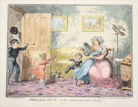 Home from School or the Commencement of the Holidays, 1835.