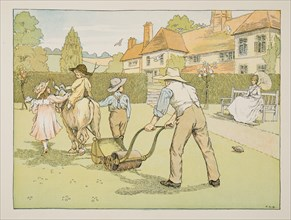 The Gardener,  from Four and Twenty Toilers, pub. 1900 (colour lithograph)