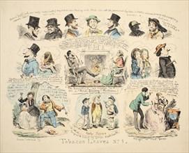 Tobacco Leaves No. 1, pub. 1851. Creator: George Cruikshank (1792-1878).
