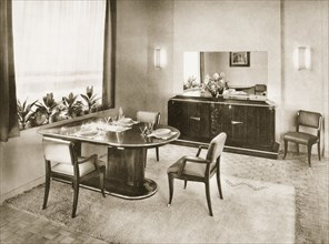 Dining Room from Ensembles Mobiliers, pub. 1937. Creator: French Photographer (20th century).