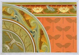 Designs for wallpaper borders, pub. 1897. Creator: Maurice Pillard Verneuil (1869?1942).