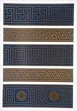 Greek Ornament: Bands or borders in dark on light and light on dark colours, pub. 1892. Creator: George Ashdown Audsley (1838-1925).