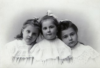 Portrait of children, Baku, Azerbaijan, 1909.  Artist: Julian Stanislavovich Zelinsky