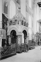 Minin's Tomb in the Saviour Cathedral in the Nizhny Novgorod Kremlin, Russia, 1896.  Artist: Maxim Dmitriev