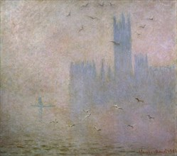 'Seagulls. The Thames in London. The Houses of Parliament', 1903-1904. Artist: Claude Monet