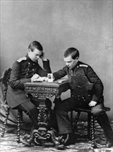 Grand Dukes Alexander Alexandrovich and Vladimir Alexandrovich of Russia, c1859-c1861. Artist: Unknown