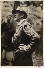 Gabriele D'Annunzio, Italian poet, novelist and dramatist, 20th century. Artist: Studio Fotografico Ferrurio