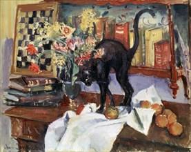 'Still Life with a Cat', 1912.  Artist: Jean Joveneau