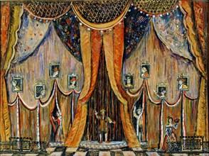 Design of the curtain for the opera 'Dorothea', by T Khrennikov, 1983.  Artist: Alexander Lushin