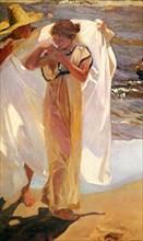 'After the Bath', 1908.  Artist: Joaquin Sorolla y Bastida