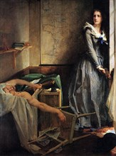 'Charlotte Corday after the murder of Marat', 1861.  Artist: Paul-Jacques-Aime Baudry