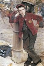 'The London Bootblack', 1882.  Artist: Jules Bastien-Lepage