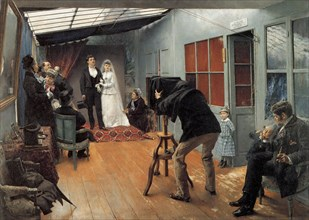 'Wedding at the Photographer's', 1878-1879.  Artist: Pascal Adolphe Jean Dagnan-Bouveret