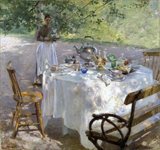 'Breakfast Time', 1887.  Artist: Hanna Pauli