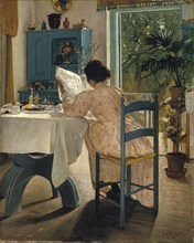 'Breakfast with the Morning Newspaper', 1898.  Artist: Laurits Andersen Ring