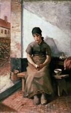 'A Maidservant's Breakfast', 1880s.  Artist: Constantin Emile Meunier