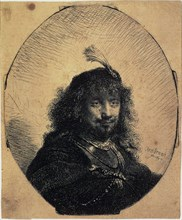 'Self-Portrait in a Cap with a Plume and a Sabre', 1634.  Artist: Rembrandt Harmensz van Rijn