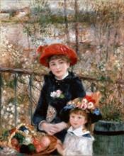 'Two Sisters (On the Terrace)', 1881.  Artist: Pierre-Auguste Renoir