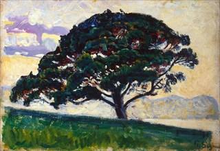 'Large Pine, Saint-Tropez', 1892-1893.  Artist: Paul Signac