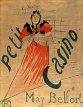 'May Belfort, Petit Casino', 1895.  Artist: Henri de Toulouse-Lautrec