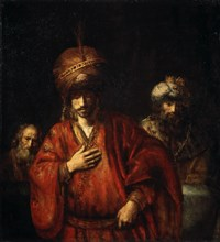 'Haman Recognizes His Fate (David and Uriah)', 1665.  Artist: Rembrandt Harmensz van Rijn