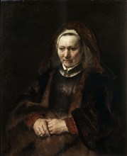 'Portrait of an Elderly Woman', 1650-1652.  Artist: Rembrandt Harmensz van Rijn