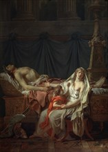 'Andromache mourns Hector', 1783.  Creator: Jacques-Louis David.