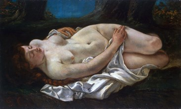 'Reclining Woman', 1865.  Artist: Gustave Courbet