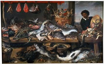 'A Fishmonger's Shop', 17th century. Artist: Frans Snyders