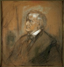 'Portrait of the composer Richard Wagner', (1813-1883), 1868.  Artist: Franz von Lenbach