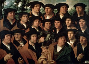 'Group Portrait of the Amsterdam Shooting Corporation', 1532.  Artist: Dirck Jacobsz