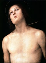 'Saint Sebastian', between 1493 and 1494.  Artist: Perugino