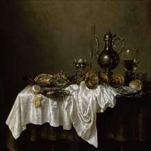 'Breakfast with a Lobster', Dutch painting of 17th century. Artist: Willem Claesz Heda