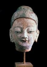 'Head of Buddha', (From the Ruins of old Idikutshari near Turfan), 8th-9th century. Artist: Unknown
