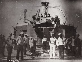 Uprising on the battleship 'Potemkin', Constanta, Romania, 1905. Artist: Unknown