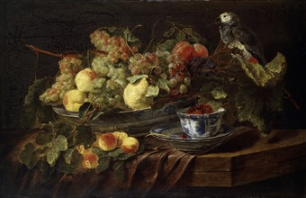 'Still Life with Fruit and Parrot', 1645.  Artist: Jan Fyt
